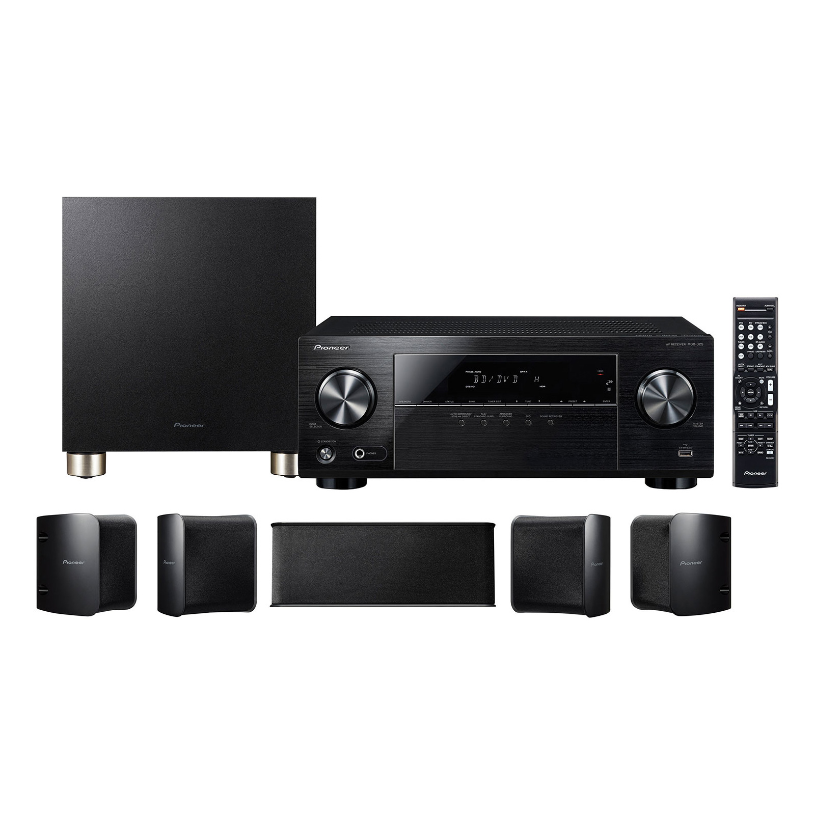 pioneer htp 074 ensemble home cinema 5 1 600w 4k uhd 3d comparer avec. Black Bedroom Furniture Sets. Home Design Ideas