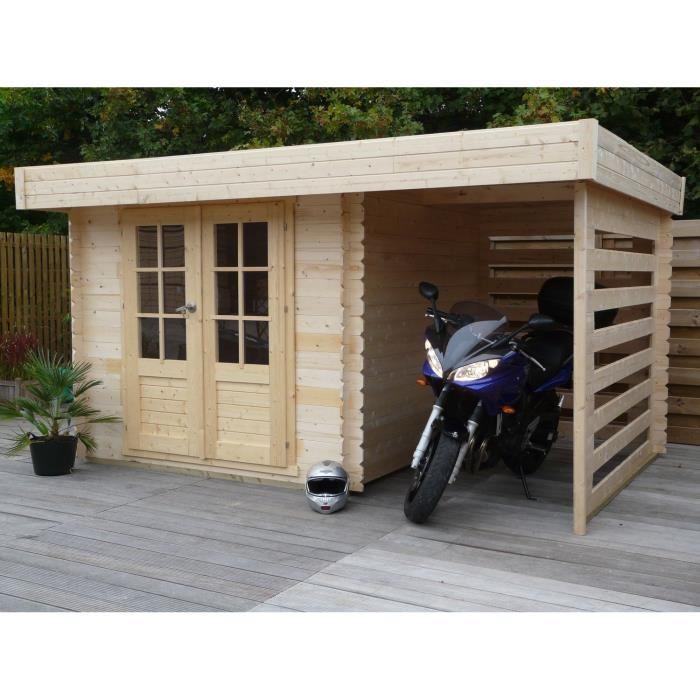 Abri De Jardin Toit Plat Avec Bucher - Amazing Home Ideas ...