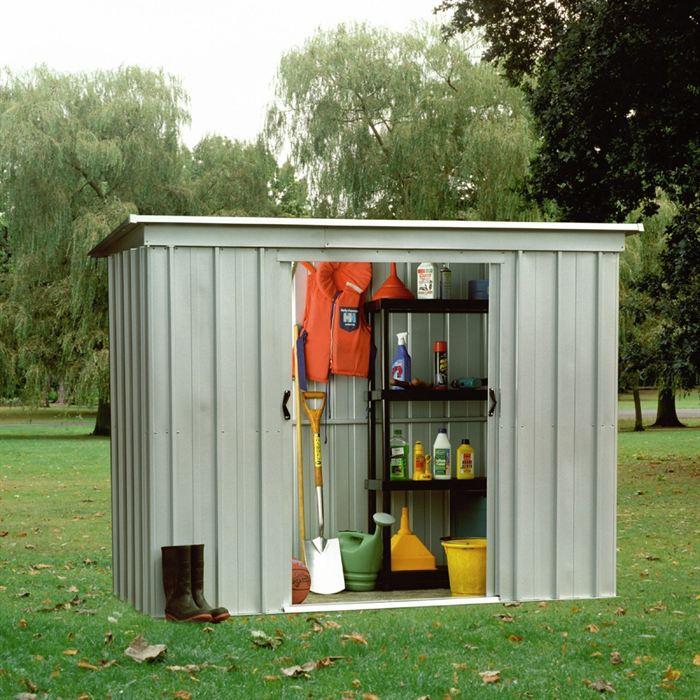 Yardmaster 104pz abri de jardin en m tal 2 95 m2 for Jardin prix m2