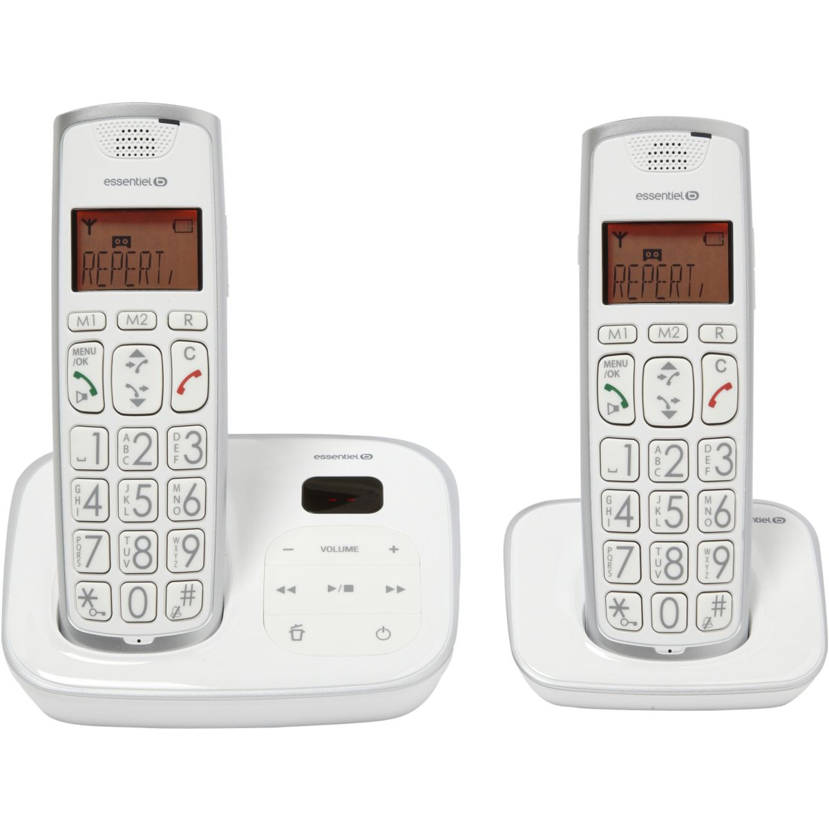 essentielb confort 15 2 t l phone sans fil avec. Black Bedroom Furniture Sets. Home Design Ideas