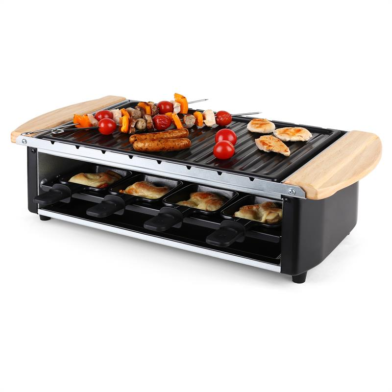 klarstein chateaubriand grill raclette pour 8 personnes comparer avec. Black Bedroom Furniture Sets. Home Design Ideas