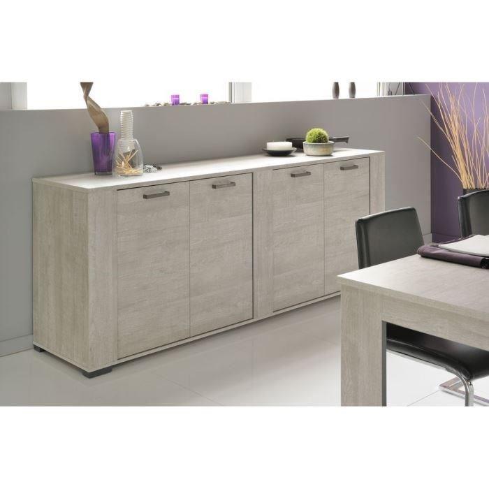 parisot buffet 4 portes loft 50 x 89 x 220 cm comparer avec. Black Bedroom Furniture Sets. Home Design Ideas