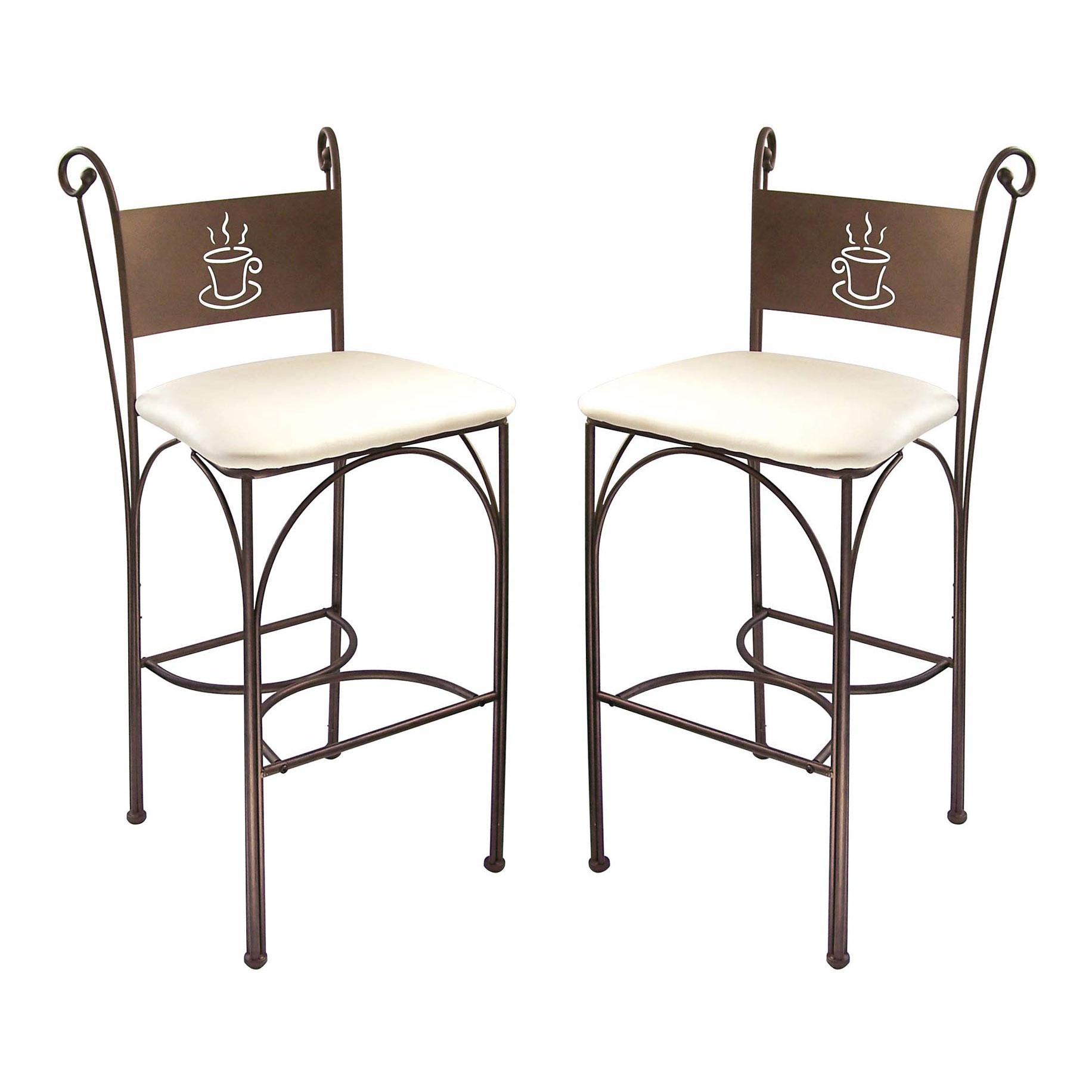 cappuccino 2 chaises hautes en fer forg 110 cm comparer avec