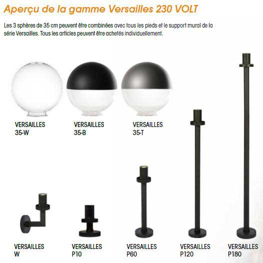 Akanua 2010414 Globe D Eclairage Exterieur Versailles Comparer