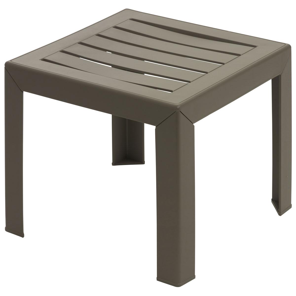 Grosfillex Miami - Table basse de jardin en résine 40 x 40 cm ...