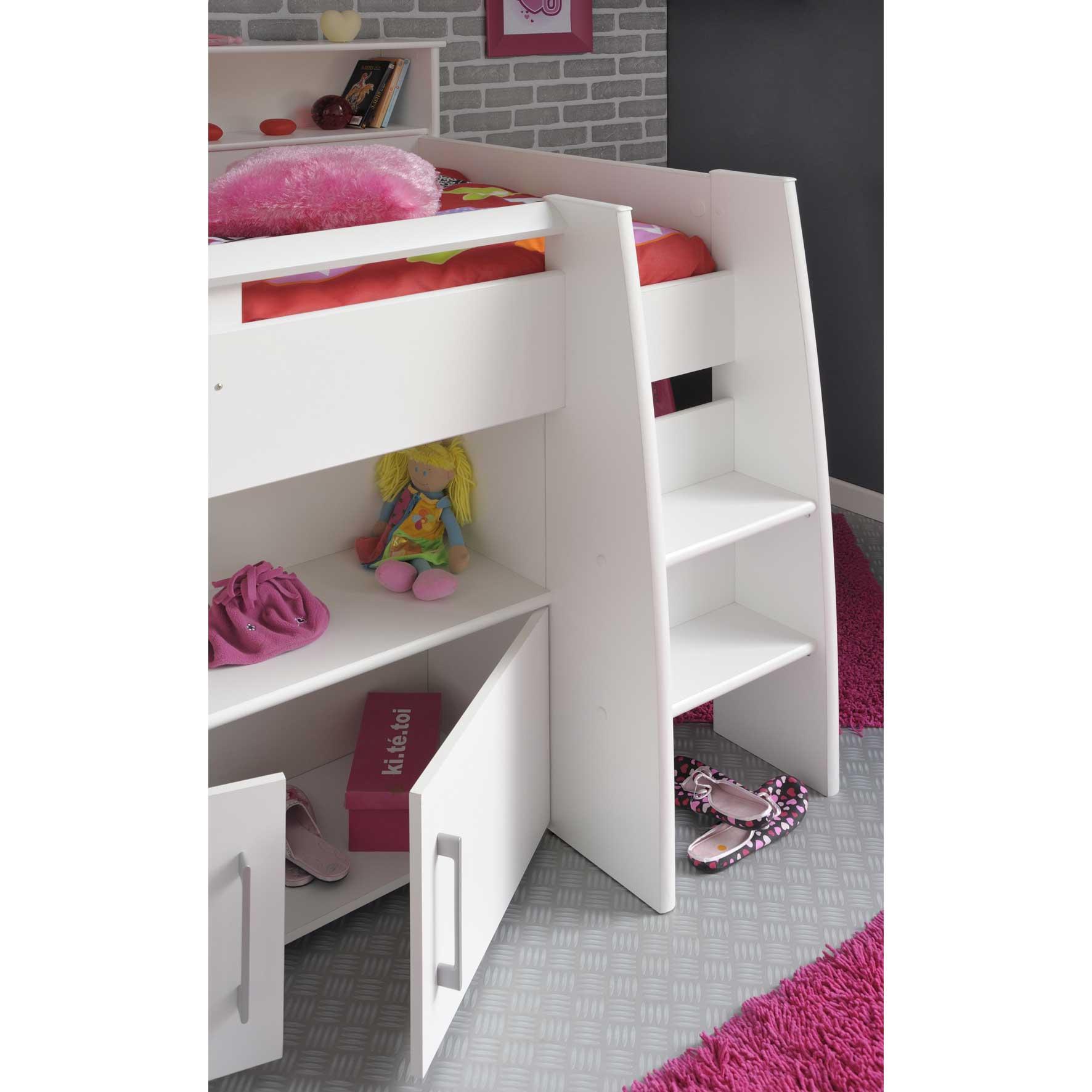 lit combin melody avec bureau et rangement 90 x 200 cm comparer avec touslesprixcom - Lit Combine Enfant