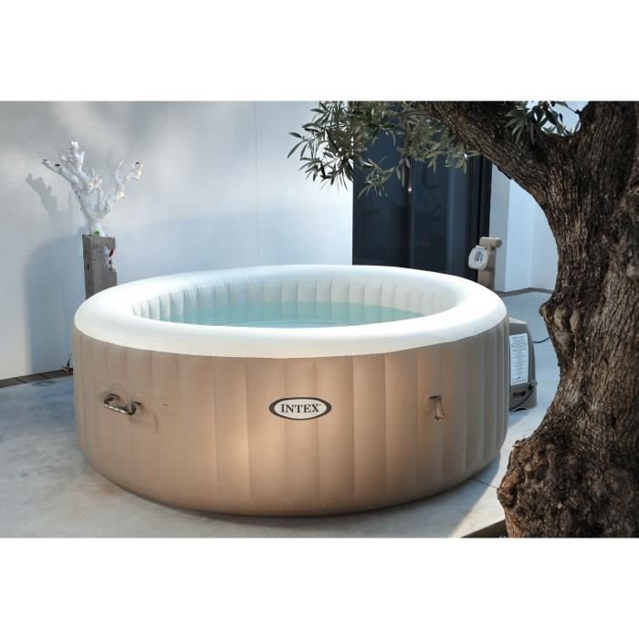 Intex 28404ec spa gonflable 4 personnes 120 diffuseurs for Prix jacuzzi exterieur 4 places