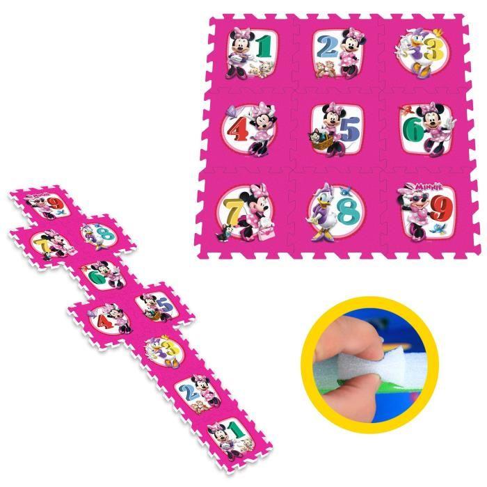 Stamp Tapis Puzzle En Mousse Marelle Minnie 9 Pcs Comparer Avec