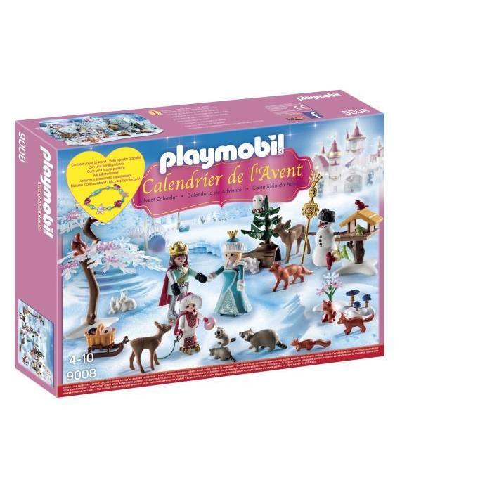 Calendrier De L Avent Playmobil Pas Cher.Playmobil 9008 Calendrier De L Avent Famille Royale En Patins A Glace