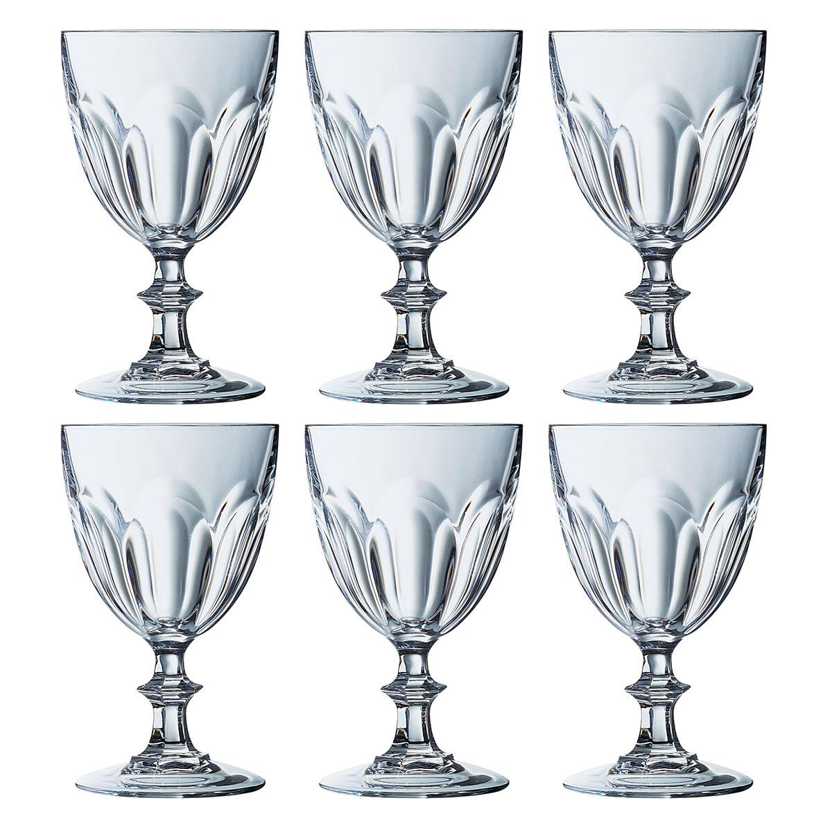 cristal d 39 arques 6 verres pied rambouillet 25 cl. Black Bedroom Furniture Sets. Home Design Ideas