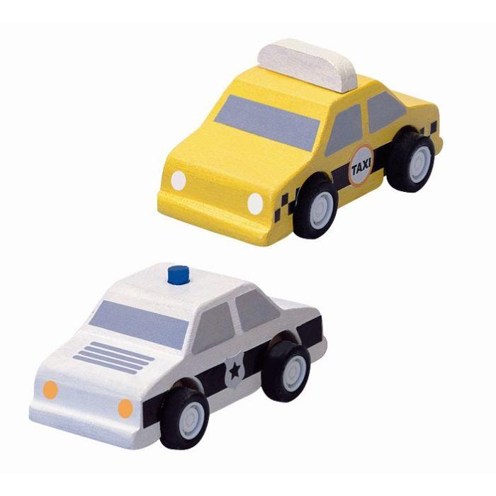 plan toys taxi et voiture de police comparer avec. Black Bedroom Furniture Sets. Home Design Ideas