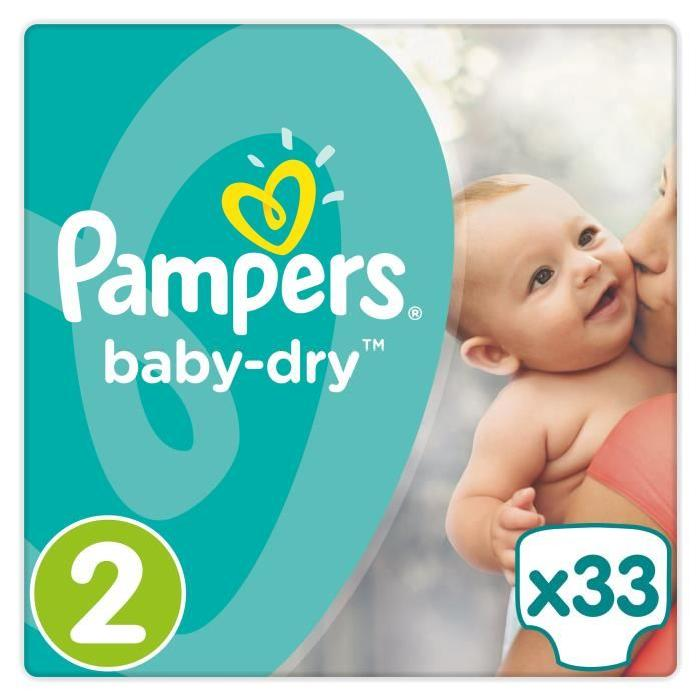 Pampers Baby Dry Taille 2 3 6 Kg 33 Couches Comparer Avec