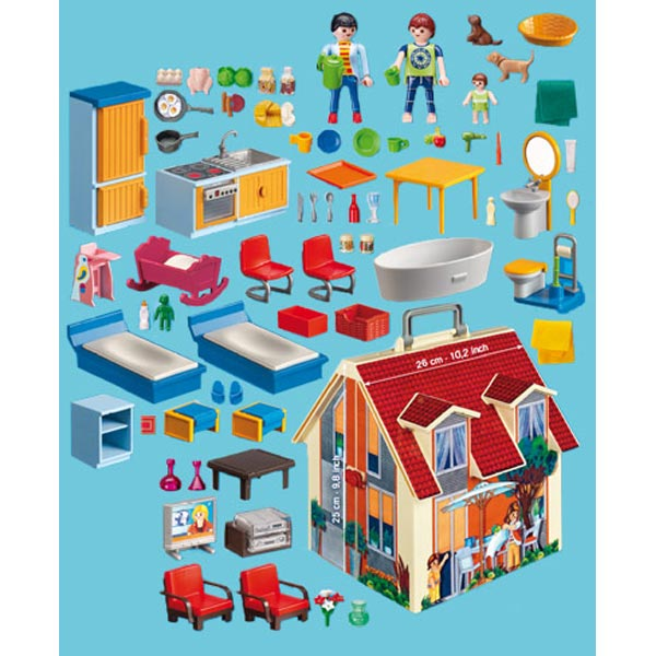 playmobil 5167 maison transportable comparer avec. Black Bedroom Furniture Sets. Home Design Ideas