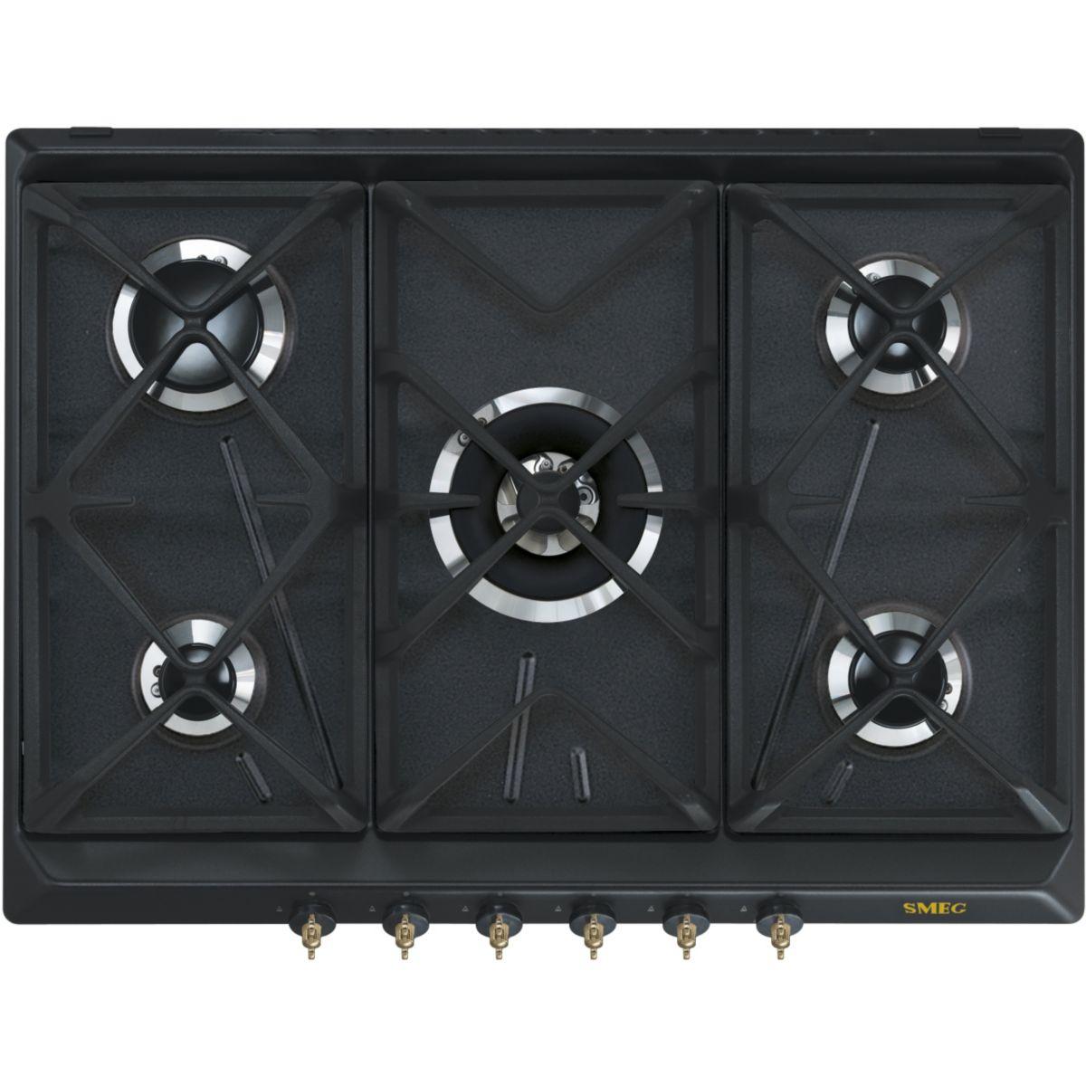 Smeg SRV876AOGH - Table de cuisson au gaz 5 foyers