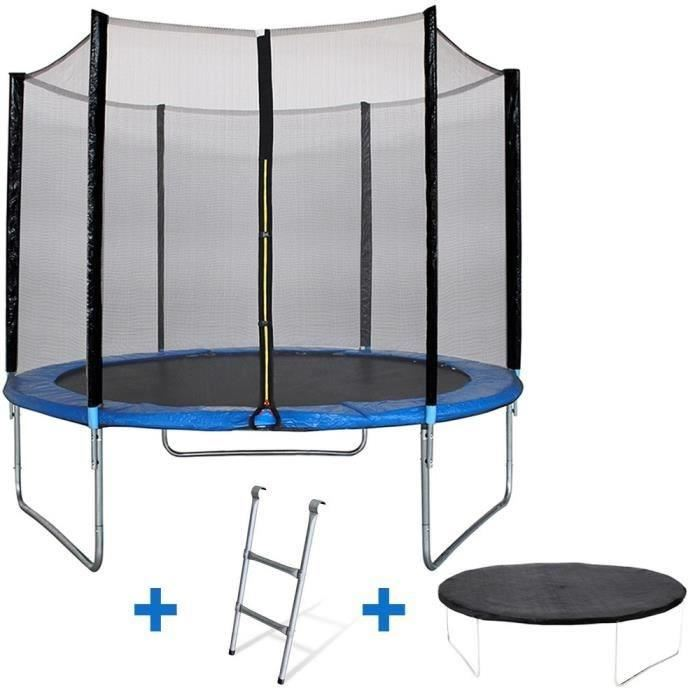 kangui maxi eco trampoline 305 cm avec chelle couverture propret et filet de protection. Black Bedroom Furniture Sets. Home Design Ideas