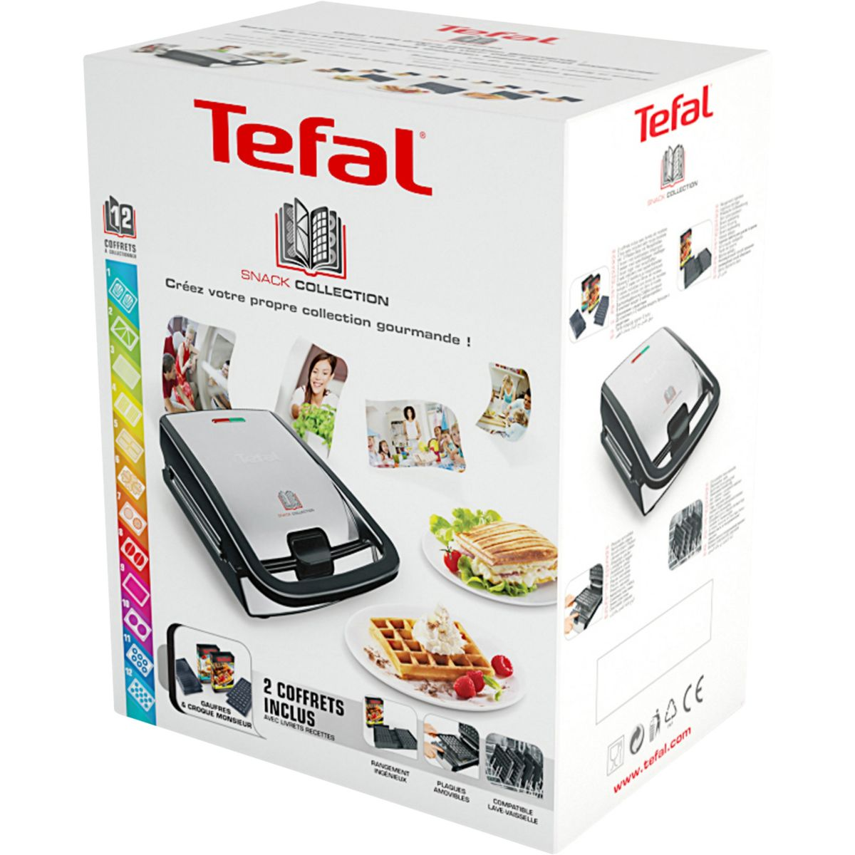 Tefal sw853d12 gaufrier snack collection comparer avec - Gaufrier tefal snack collection ...