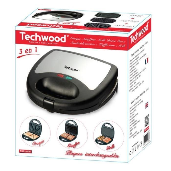 Techwood TGCI-809 - Gaufrier + croque + grill - Comparer avec ...