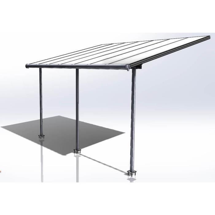 Palram Pergola aluminium extensible Elite 16,5m² - 260-305x555x295 ...