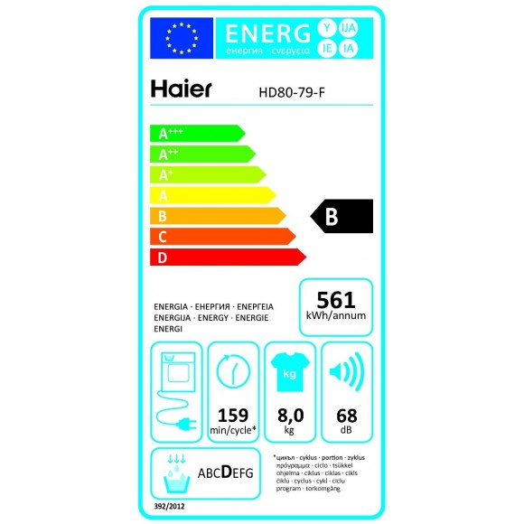 haier hd80 79 s che linge frontal condensation 8 kg comparer avec. Black Bedroom Furniture Sets. Home Design Ideas