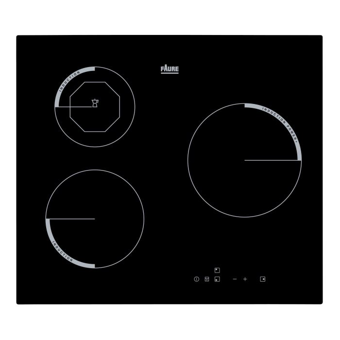 Faure fei6830fba table de cuisson induction 3 foyers - Table induction 3 foyers ...