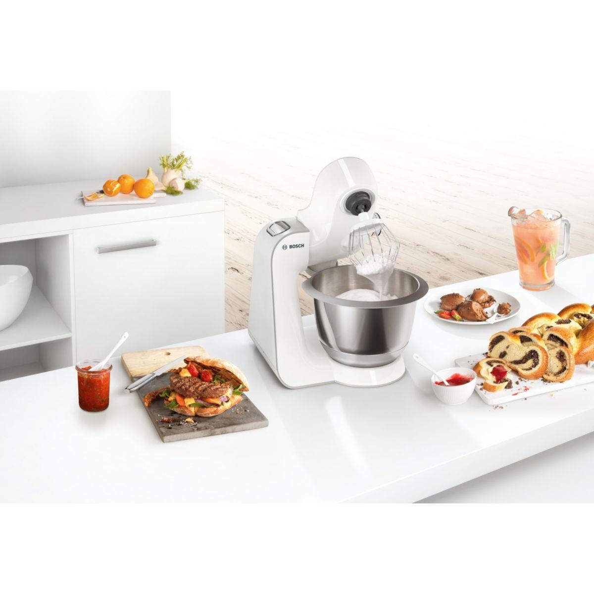 Bosch mum58244 robot de cuisine sur socle comparer for Prix robot cuisine