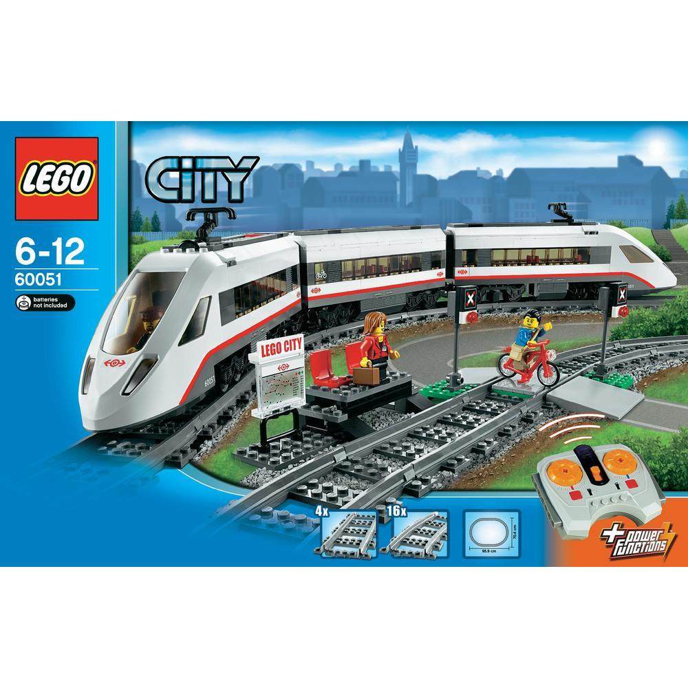 lego 60051 city le train de passagers grande vitesse comparer avec. Black Bedroom Furniture Sets. Home Design Ideas