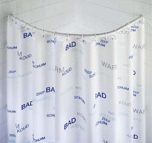 Wenko 19220100 barre de douche arrondie 80 x 80 90 x 90 cm comparer avec - Barre de douche arrondie ...
