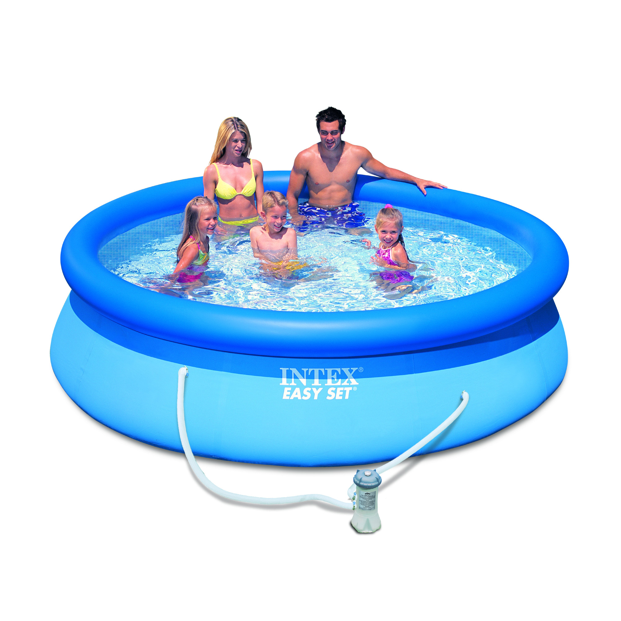 Intex 56922fr piscine hors sol autostable easy set ronde for Easy piscine