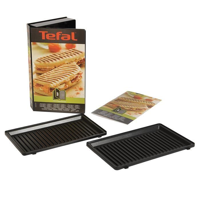 Tefal XA800312 - Jeu de 2 plaques grill-panini pour gaufrier ...