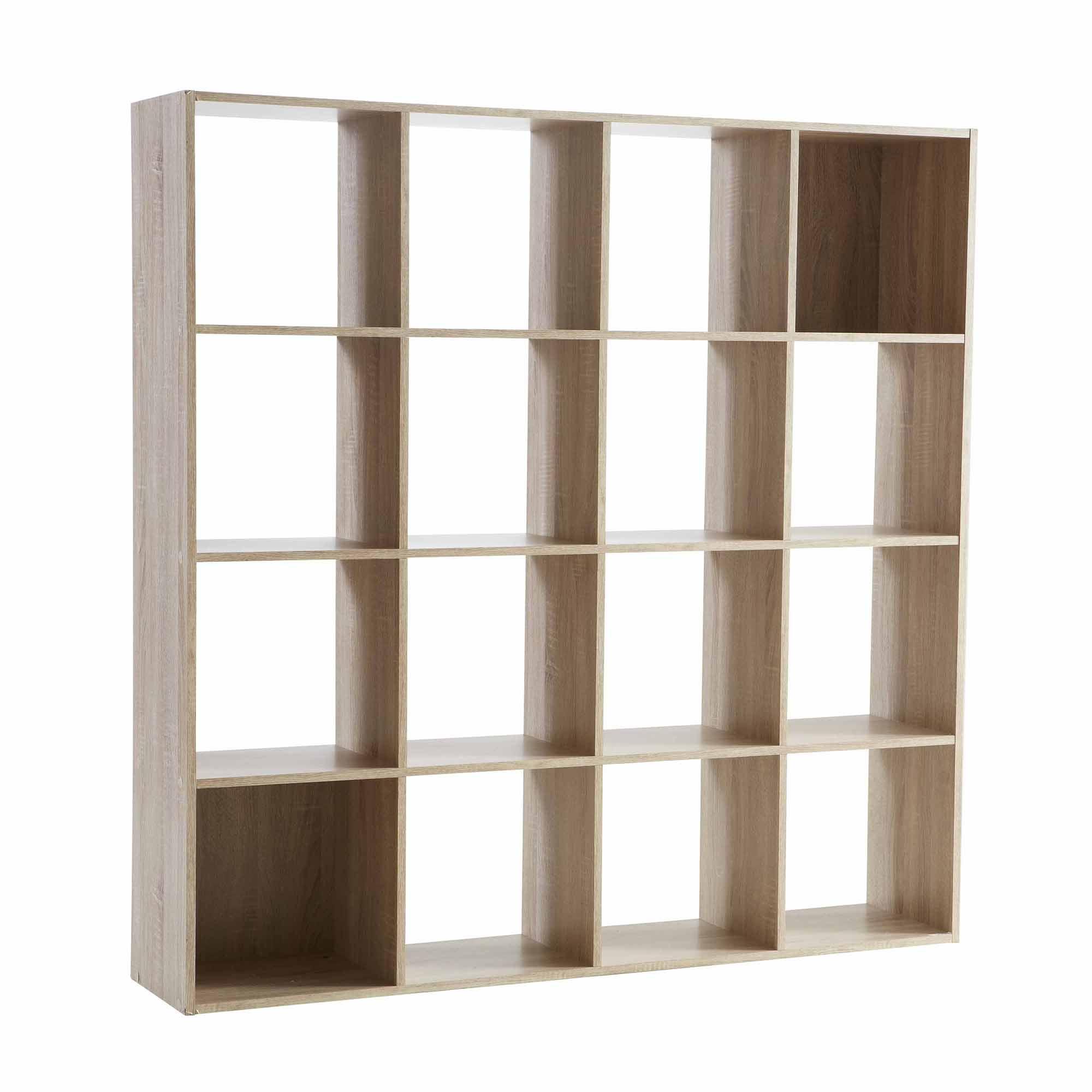 etag re biblioth que cosmos 16 cases en bois comparer. Black Bedroom Furniture Sets. Home Design Ideas