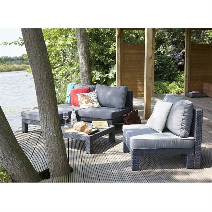 Allibert nevada salon de jardin aspect rotin tress comparer avec for Housse salon de jardin beau rivage