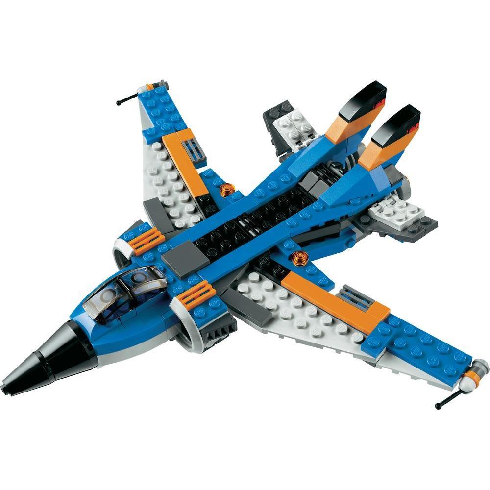 Lego 31008 creator 3 en 1 l 39 avion de chasse comparer - Avion de chasse en lego ...