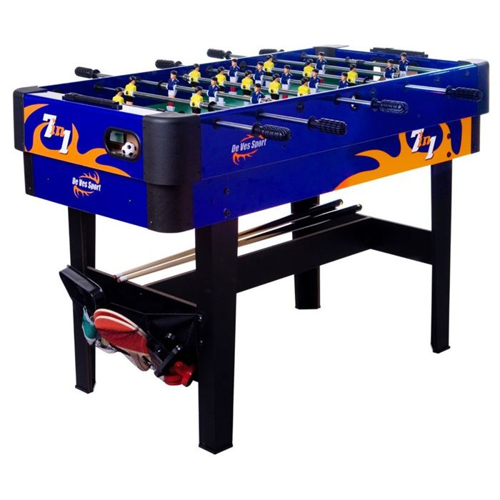 Table de jeux 7 en 1 baby foot billard ping pong for Table de multi