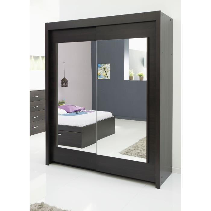 Les meubles olivier armoire zeus 2 portes coulissantes 159 x 217 cm comparer avec - Meuble zeus ...