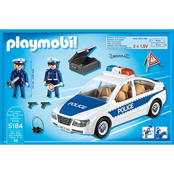 playmobil 5184 voiture de police avec lumi res clignotantes comparer avec. Black Bedroom Furniture Sets. Home Design Ideas