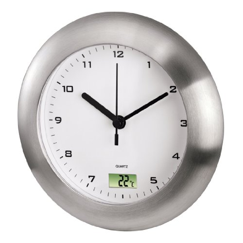 Hama 00113914 horloge murale pour salle de bains for Reveil de salle de bain