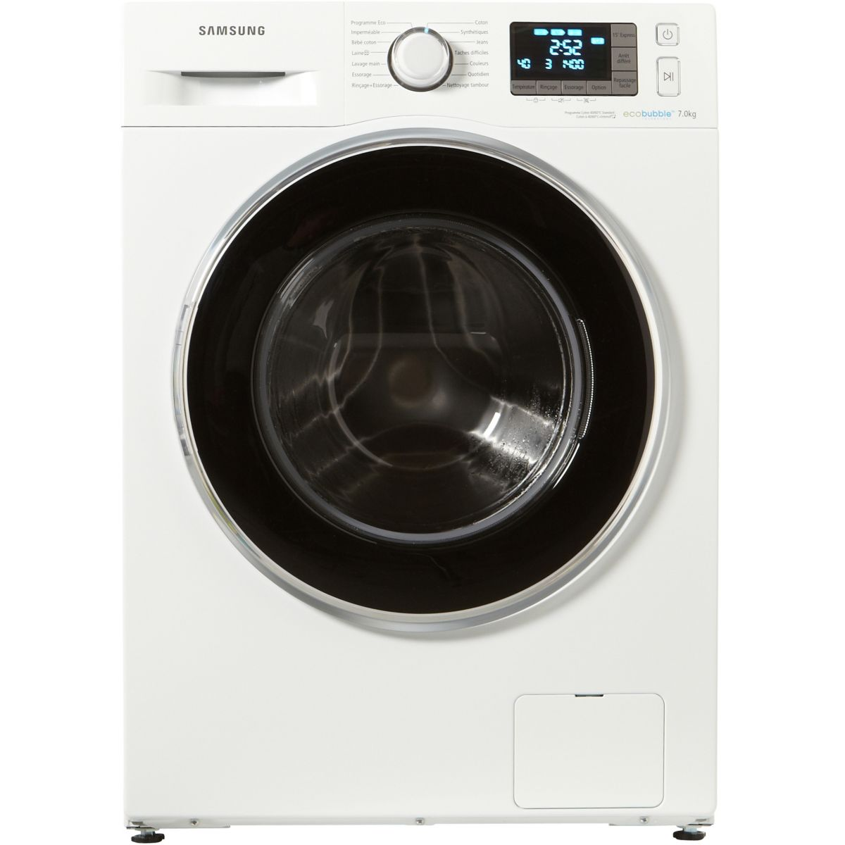samsung wf70f5ebw4w lave linge front eco bubble 7 kg comparer avec. Black Bedroom Furniture Sets. Home Design Ideas