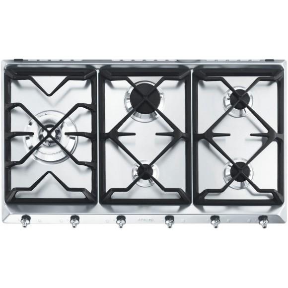 smeg se97gxbe5 table de cuisson gaz 5 foyers comparer avec. Black Bedroom Furniture Sets. Home Design Ideas