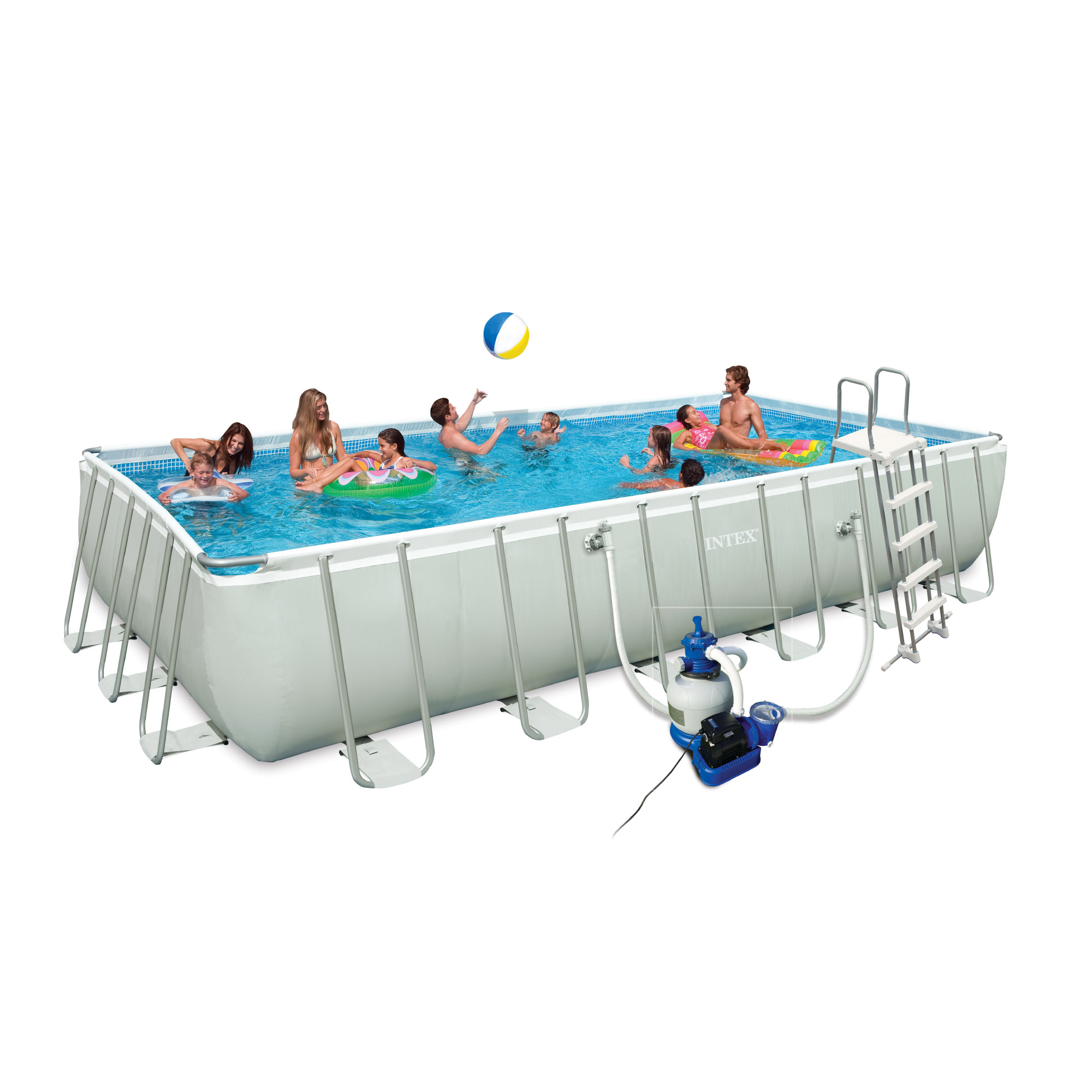 Intex 28362fr piscine hors sol tubulaire rectangulaire for Piscine hors sol intex