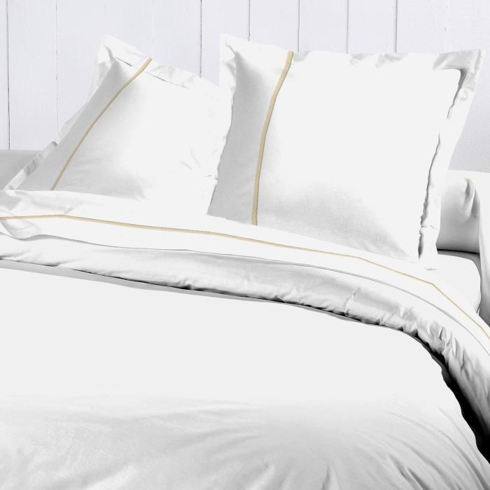 housse de couette blanche pas cher linge de lit 160x200 | direct