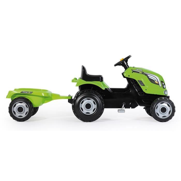 smoby tracteur p dales farmer xl avec remorque. Black Bedroom Furniture Sets. Home Design Ideas