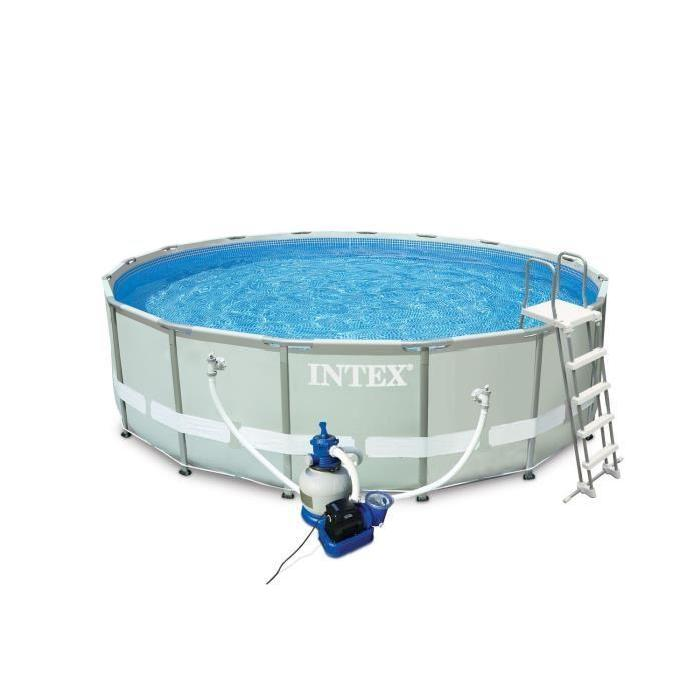 Intex 54924fr piscine tubulaire ronde 4 88 x1 22 m for Prix piscine demontable