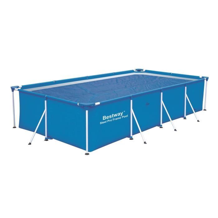 Bestway 58244 b che solaire 390 x 290 cm pour piscine for Prix piscine tubulaire rectangulaire