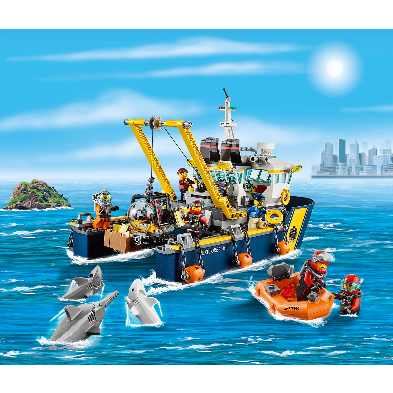 lego 60095 city bateau d 39 exploration comparer avec. Black Bedroom Furniture Sets. Home Design Ideas