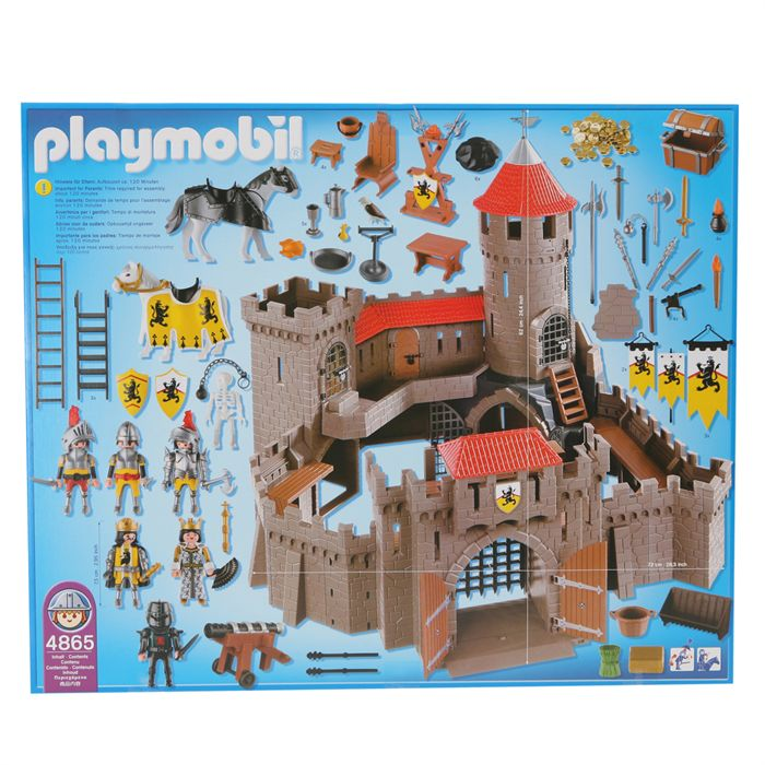 Playmobil 4865 ch teau fort des chevaliers du lion for Plan chateau fort playmobil