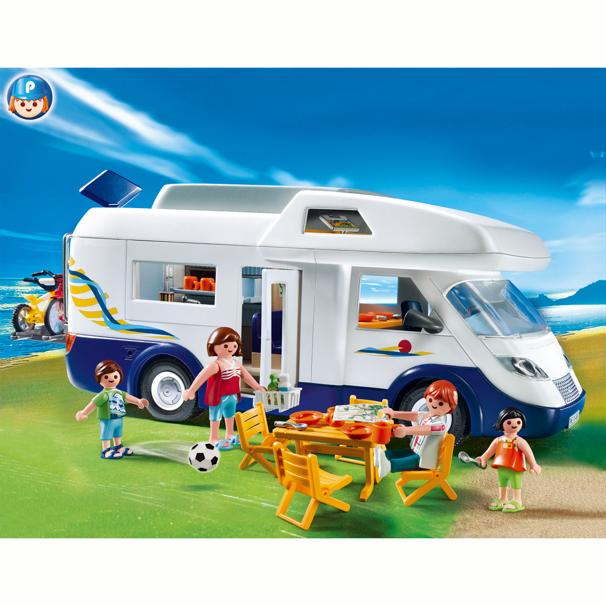 playmobil 4859 grand camping car familial comparer avec. Black Bedroom Furniture Sets. Home Design Ideas