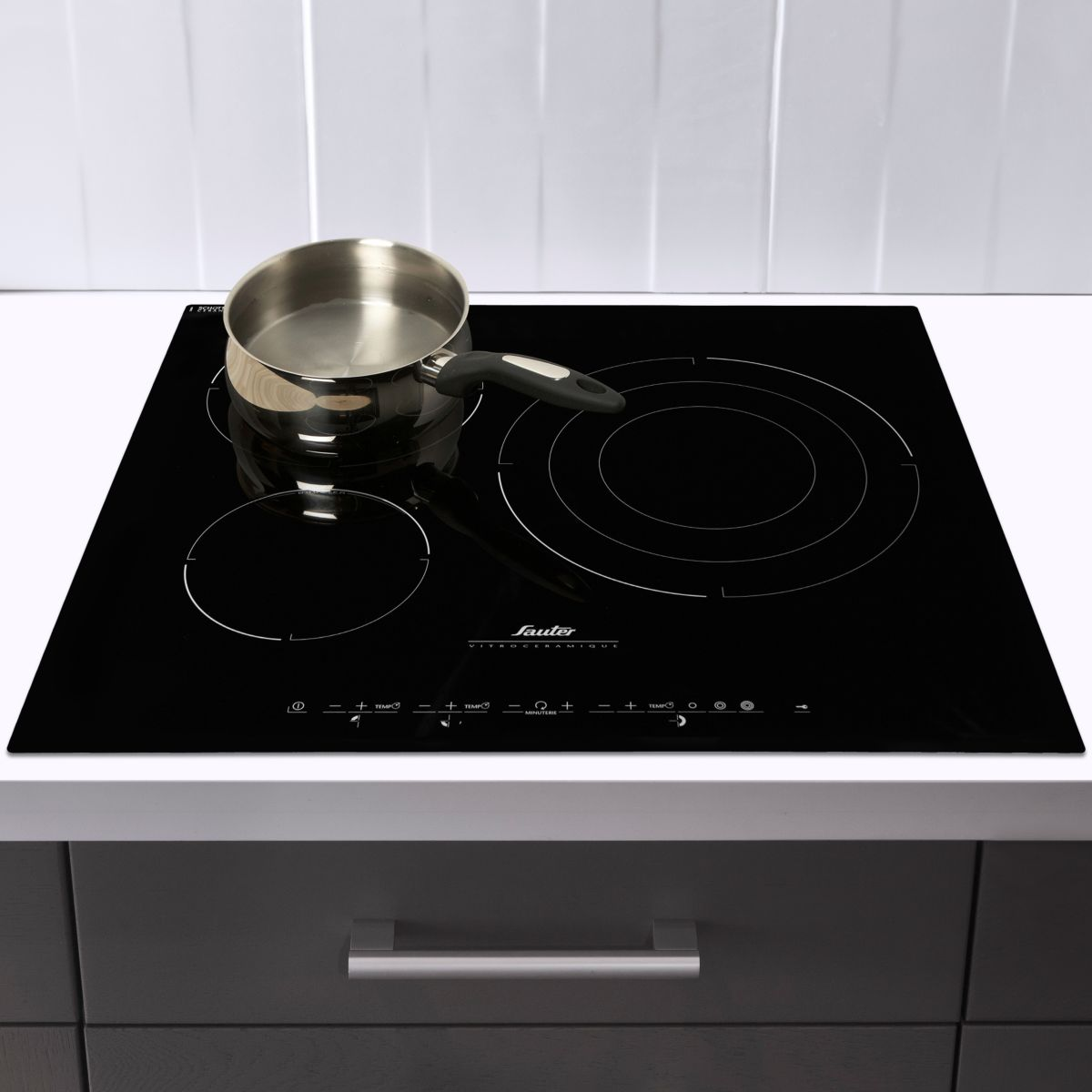 Sauter stv944 table de cuisson vitroc ramique 3 foyers for Table vitroceramique