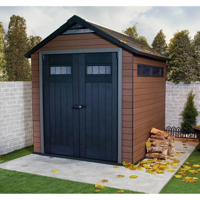 keter fusion 757 abri de jardin en bois composite et r sine 5 15 m2 comparer avec. Black Bedroom Furniture Sets. Home Design Ideas
