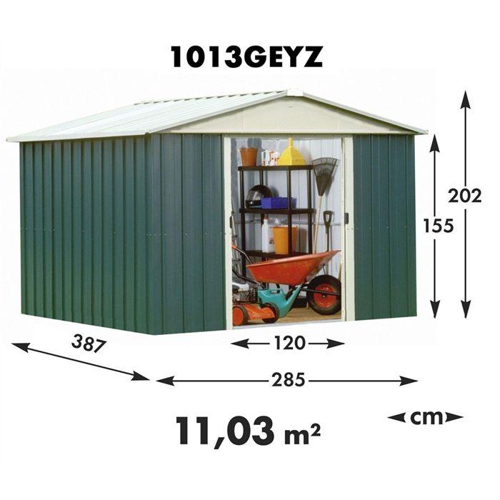 yardmaster 1013 geyz abri de jardin en m tal 11 03 m2. Black Bedroom Furniture Sets. Home Design Ideas