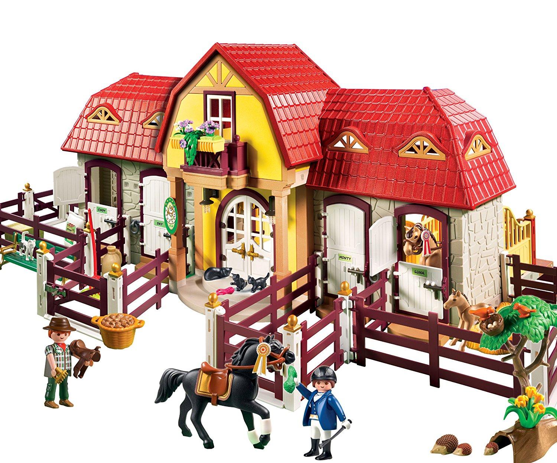 Playmobil 5221 country haras avec chevaux et enclos - Playmobil haras ...
